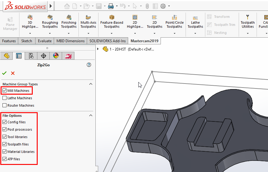 Making a Zip2go Using Mastercam for Solidworks