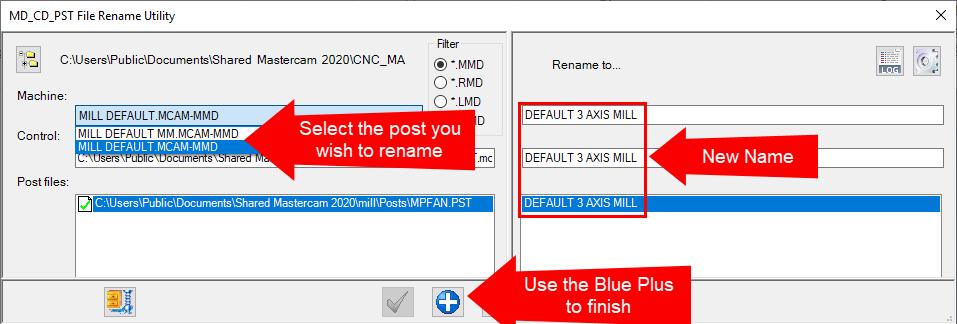 Renaming a Post Processor