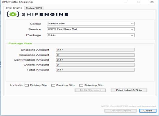 ShipEngine Integration