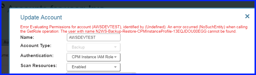 Permission check may fail with the error User not found, if