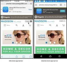 How to add a Smart App Banner for Website Mobile theme?