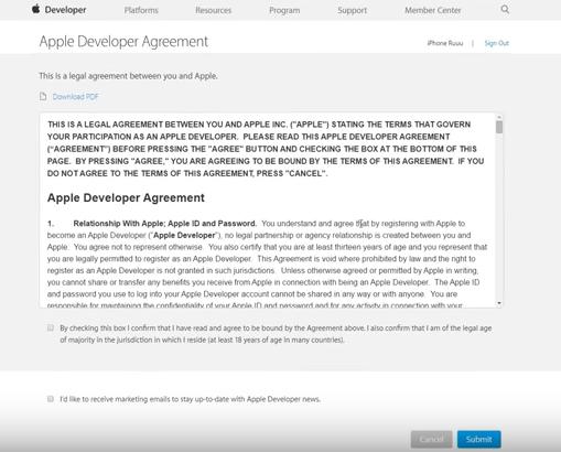 Creating An Ios Developer Account