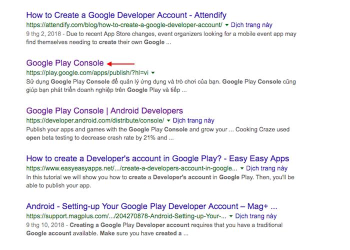 Creating a Google Developer Account