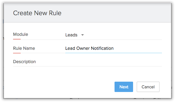 Can I notify the lead owner when a new record is assigned?