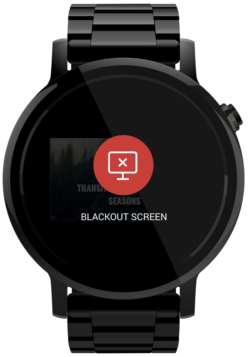 Blackout screen