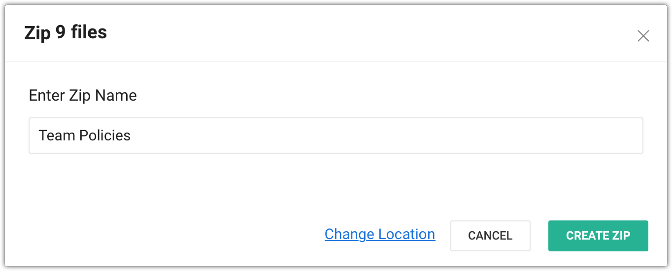 Zip name and location