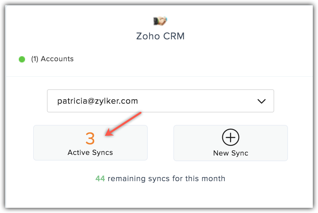 crm active syncs