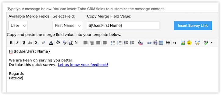 Working With Zoho Survey Online Help Crm