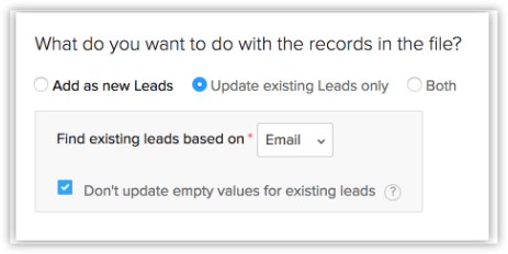 Can we update/append data to existing leads? For example