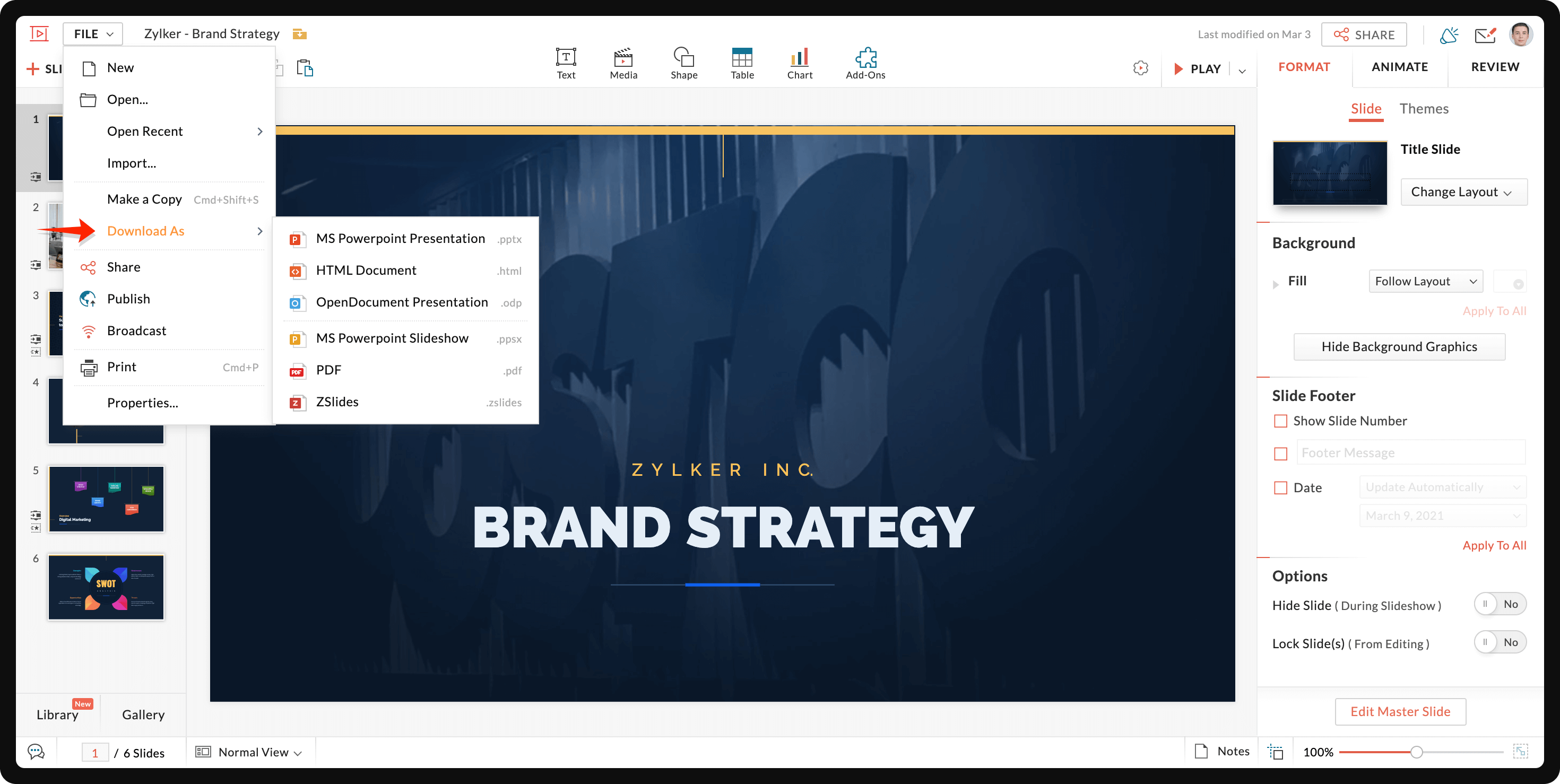 Download presentations