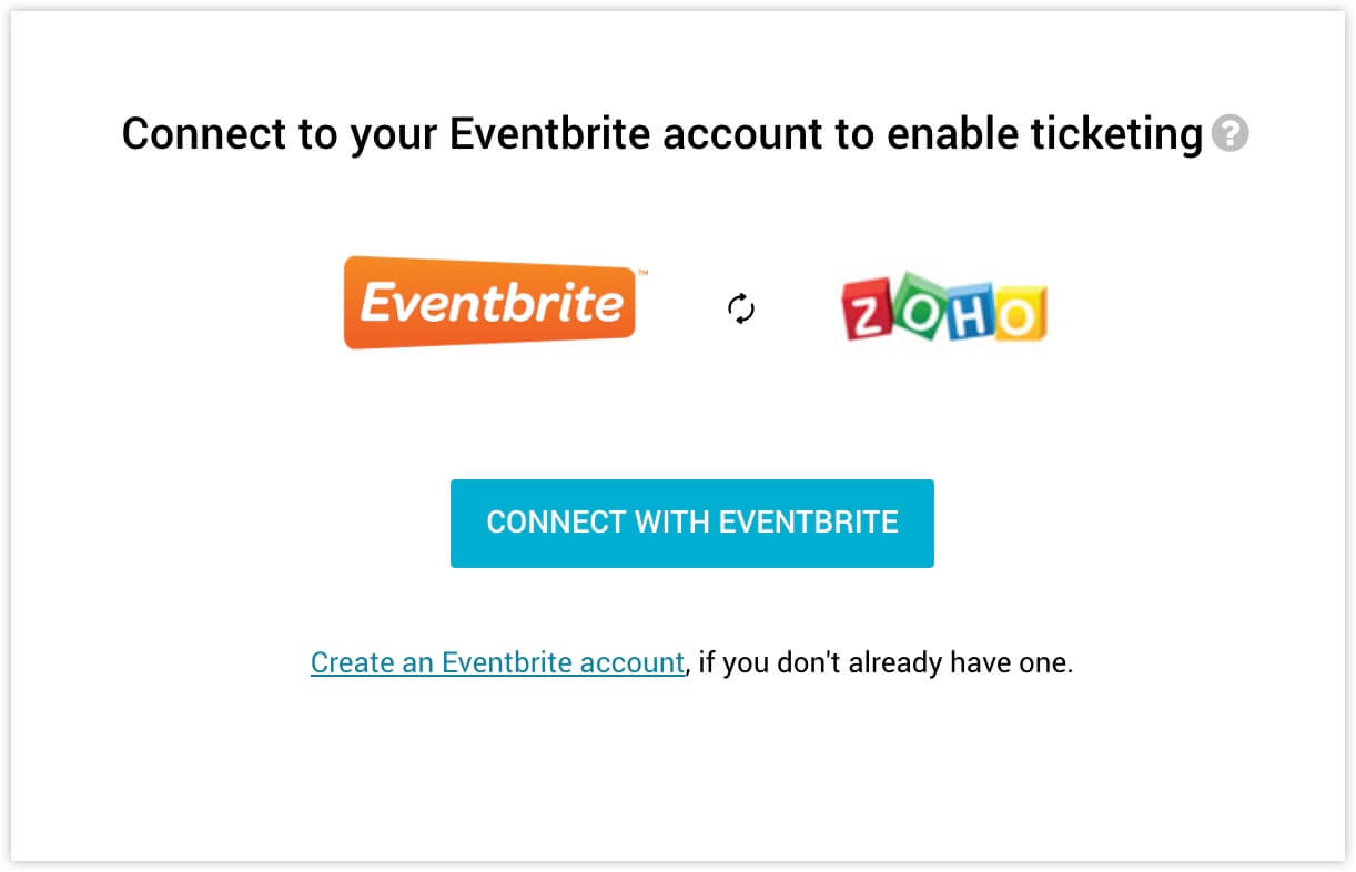 how to configure event tickets with eventbrite in zoho backstage