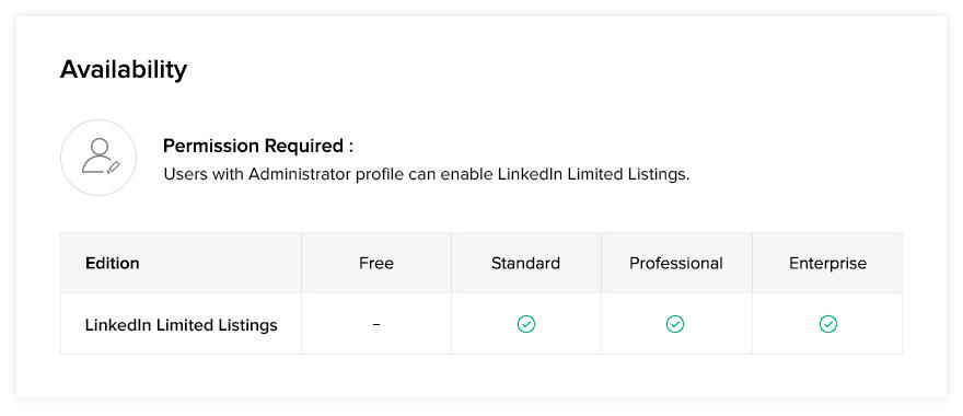 Zoho Recruit | LinkedIn Limited Listings