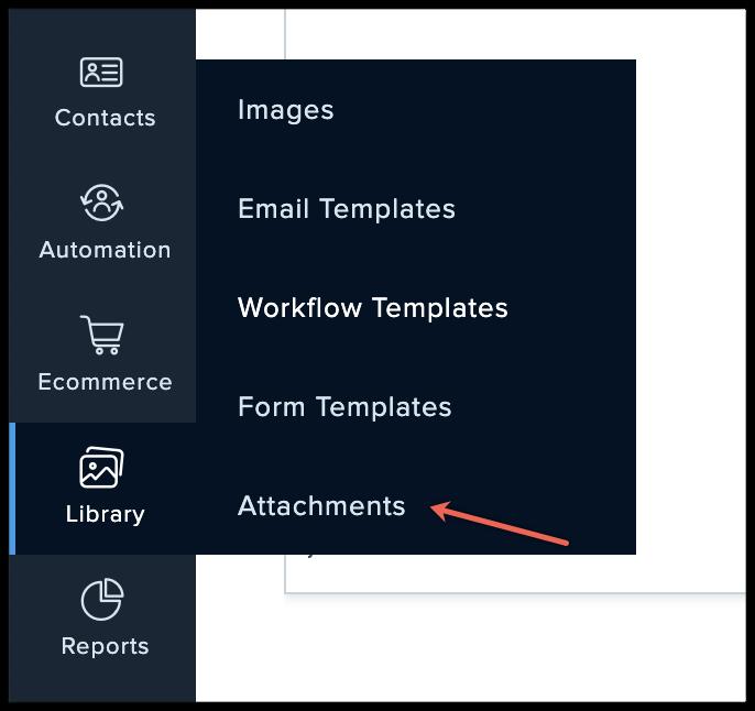 attachments menu