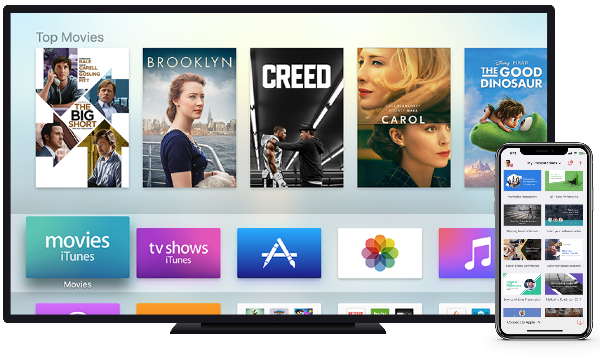How to present slides on Apple TV using Airplay?