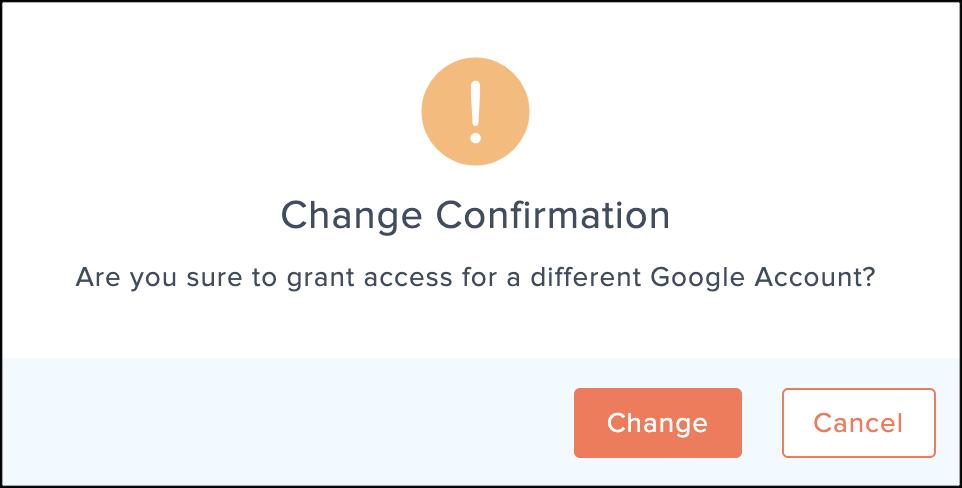change google account