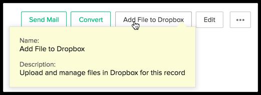 Dropbox Extension - Integrations - Online Help - Zoho CRM