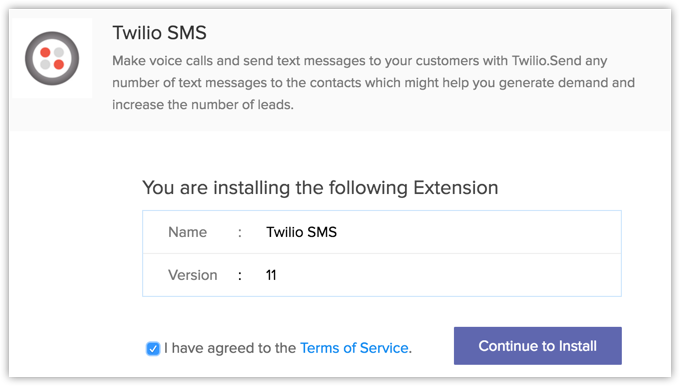Twilio SMS Extension | Online Help - Zoho CRM