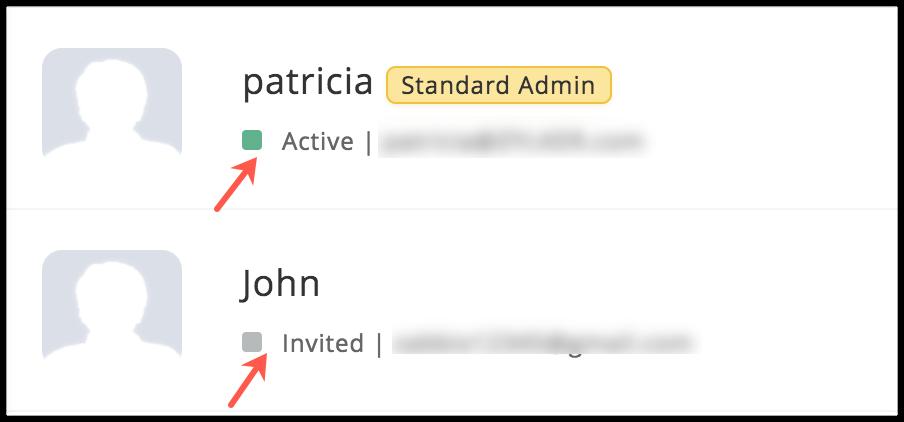 user status