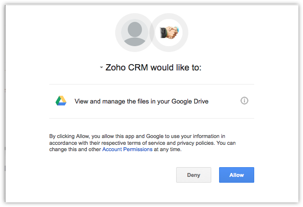 Google Drive Extension - Online Help - Zoho CRM