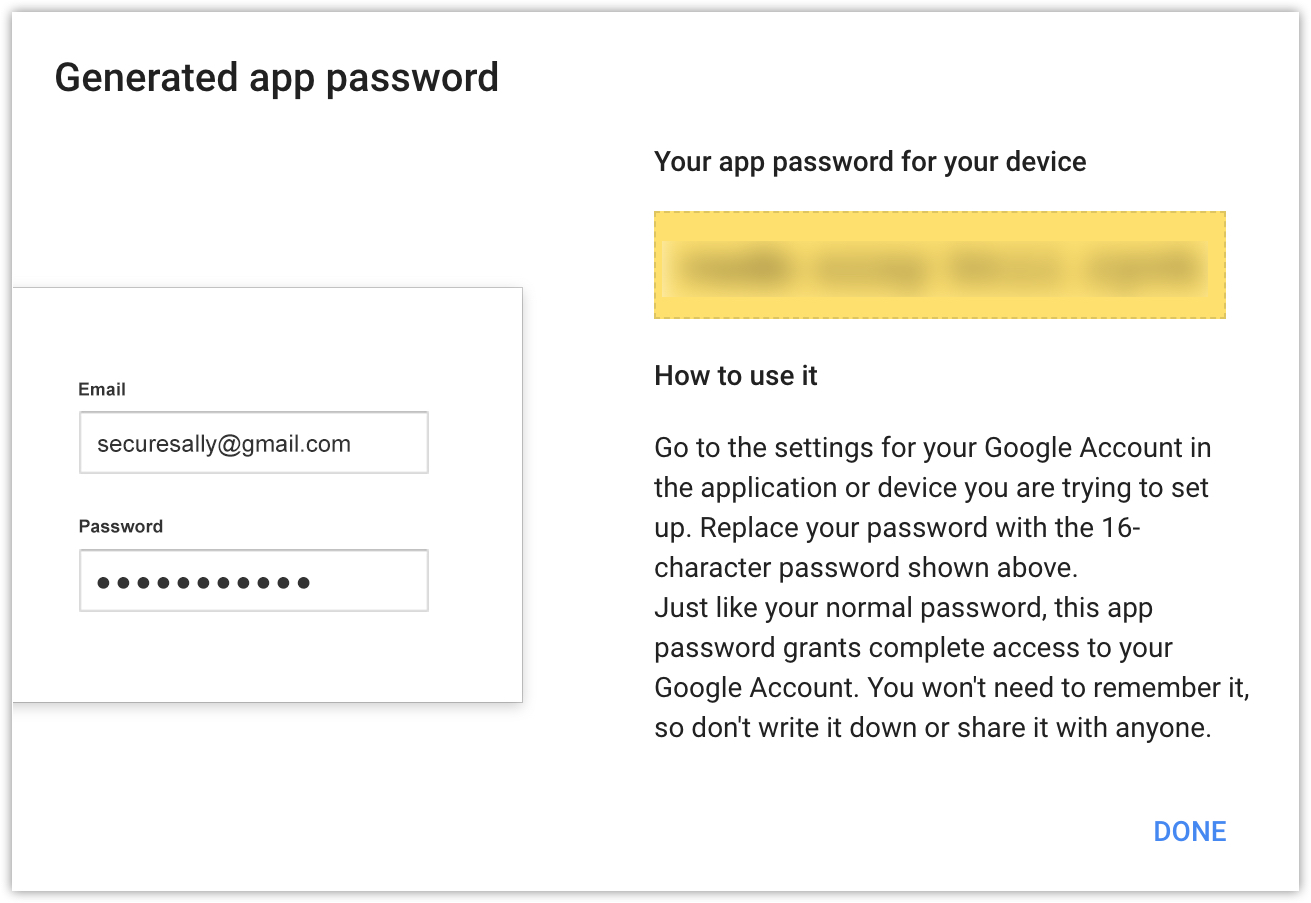 Generate an App-specific Password