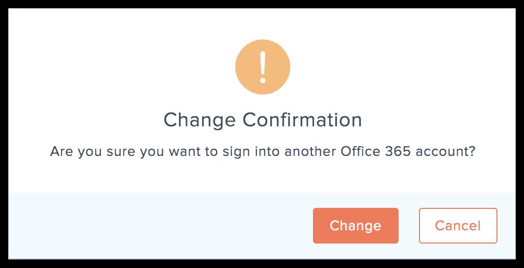 change confirmation
