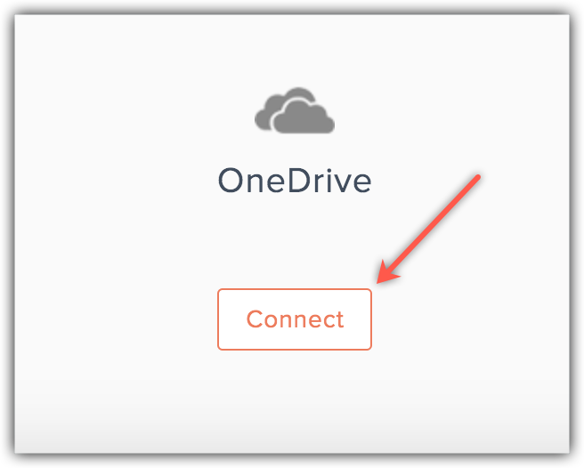 connect with onedrive