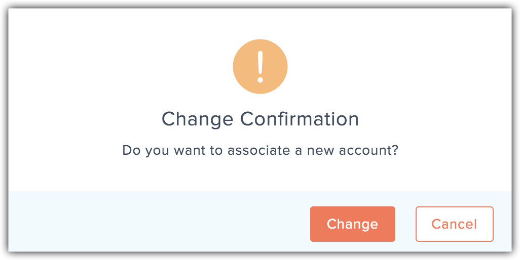 change confirmation popup