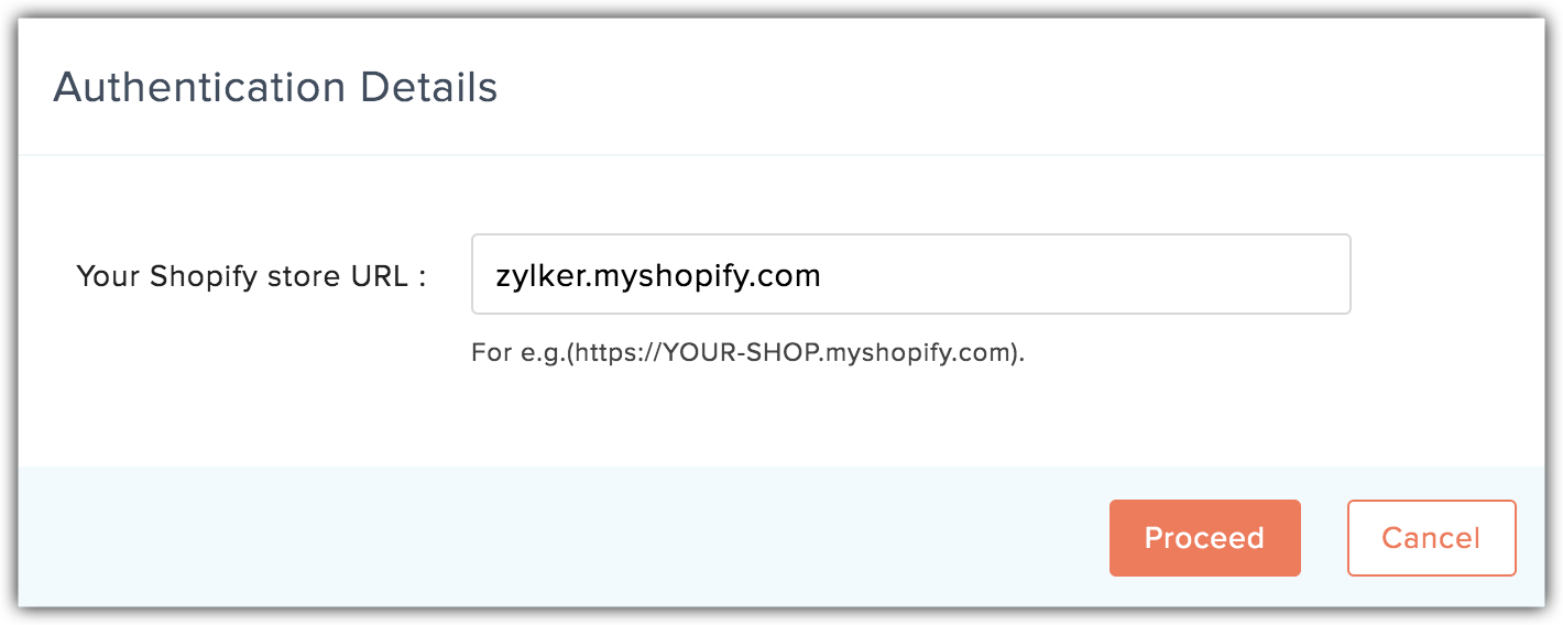 shopify store url popup