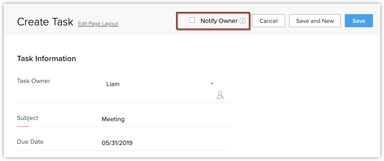 Working with Tasks and Events | Online Help - Zoho CRM
