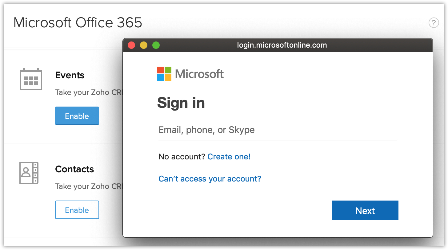Synchronizing Events and Calendars with Office 365