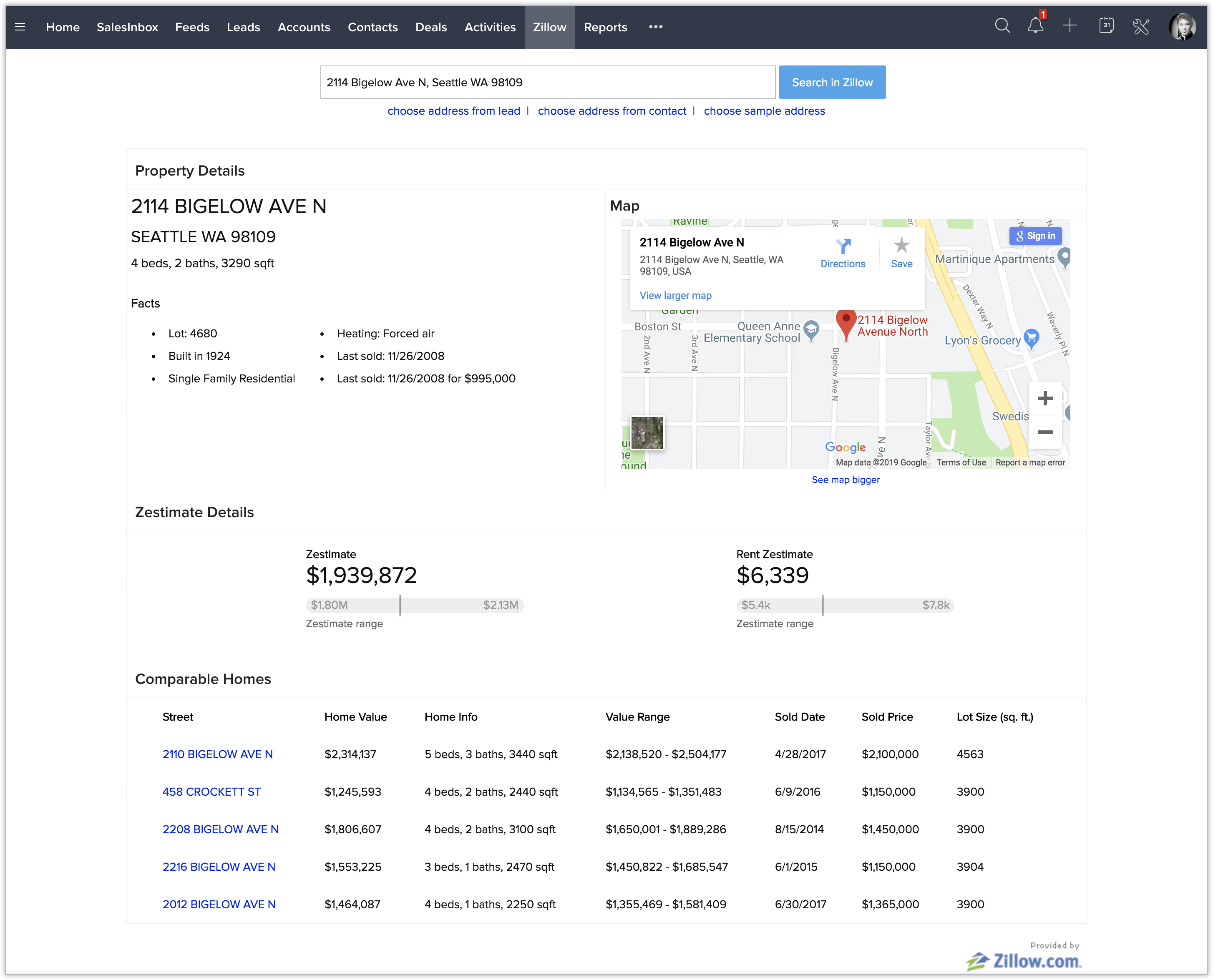 Zillow Extension - Online Help - Zoho CRM