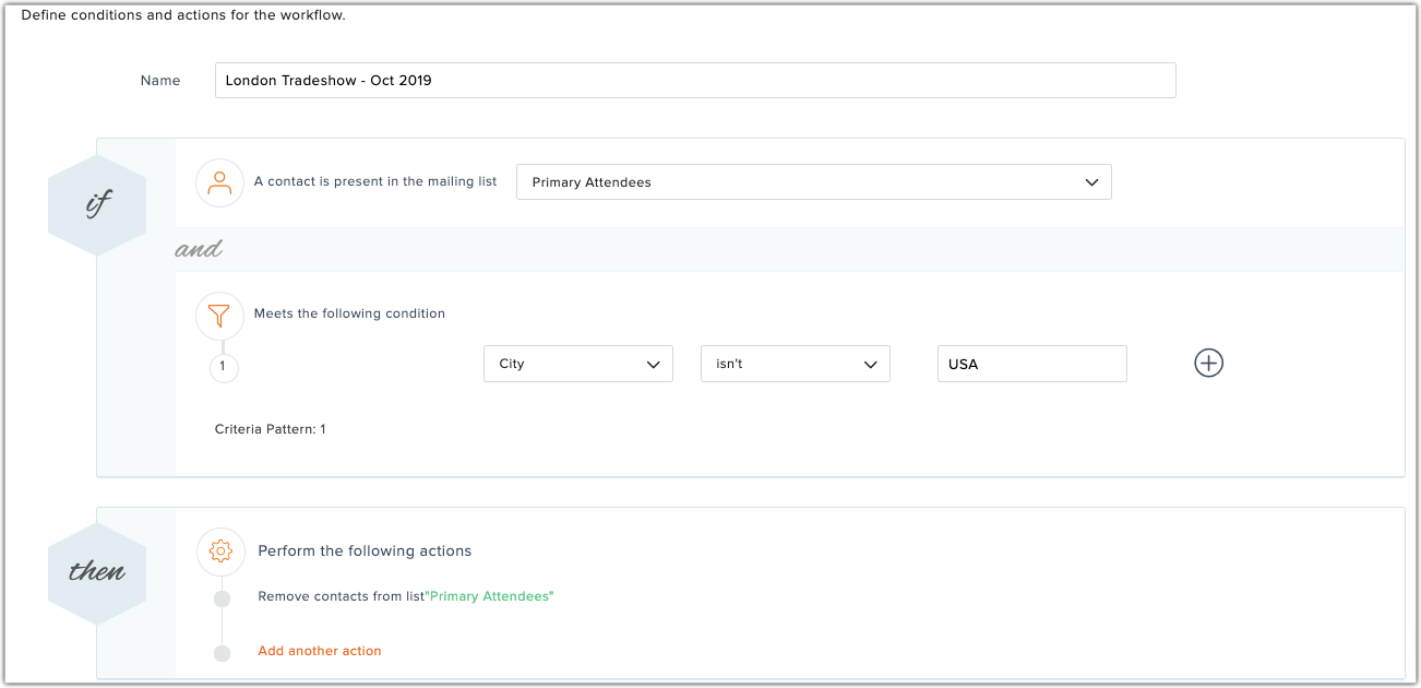 define actions for workflow