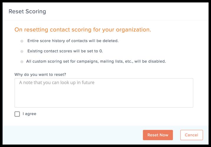 reset scoring