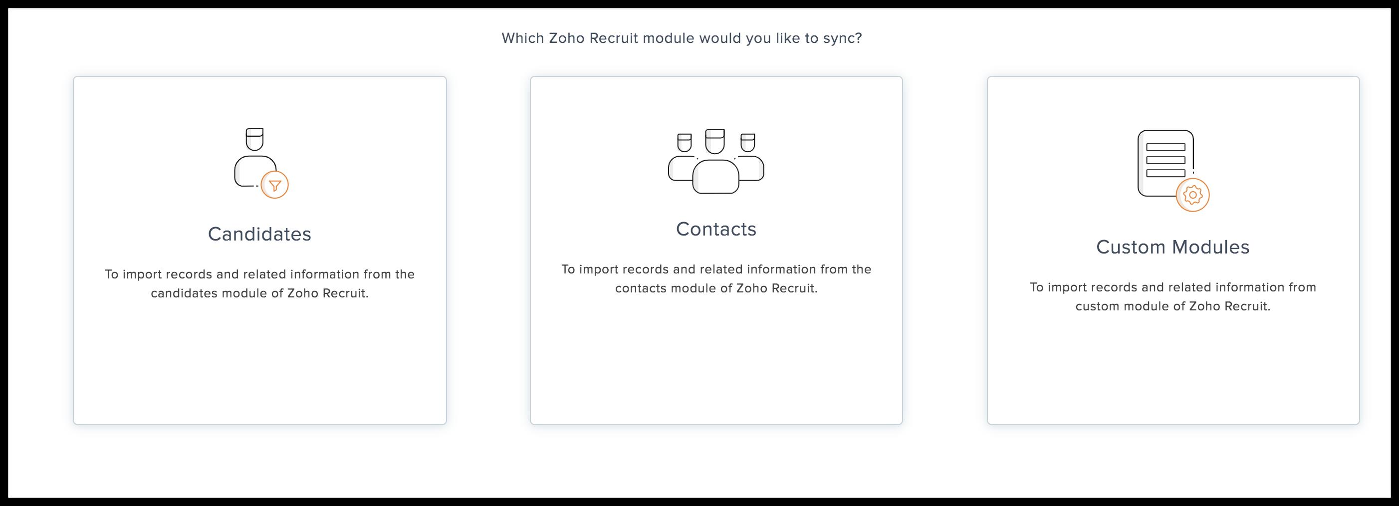 recruit choose module
