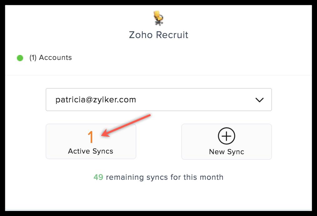 recruit active syncs