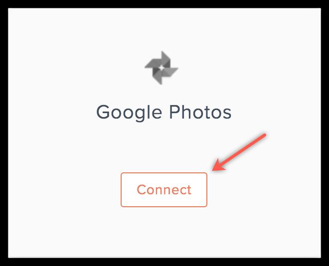 Google Photos connect