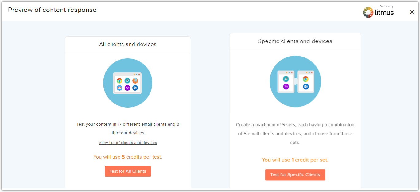 test all clients and devices