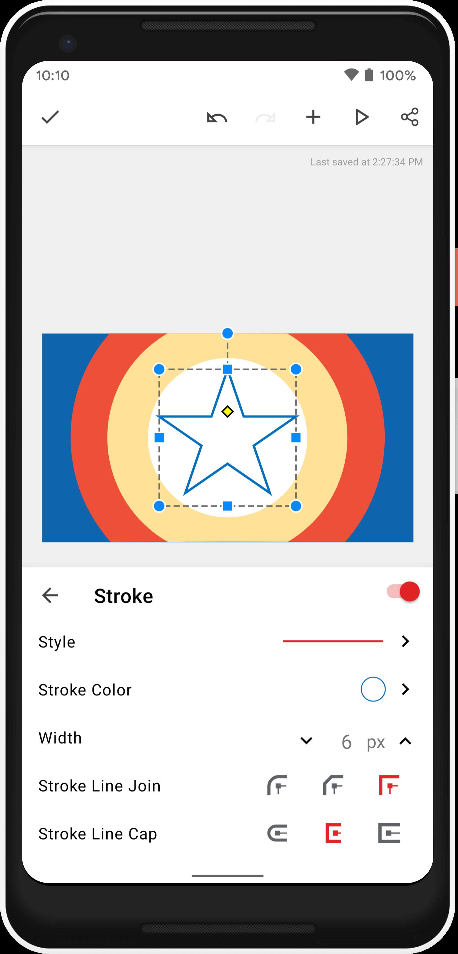 Shape stroke effect