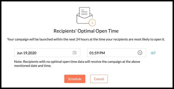 Send campaign at recipient's open time