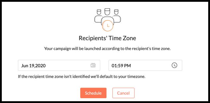 Send campaign at recipient time