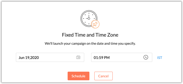 Send campaign at fixed time