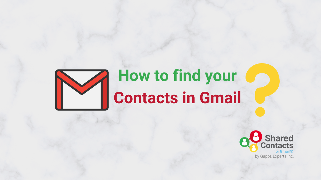 find gmail contacts