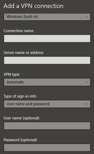 SoftEther VPN Connection Configuration