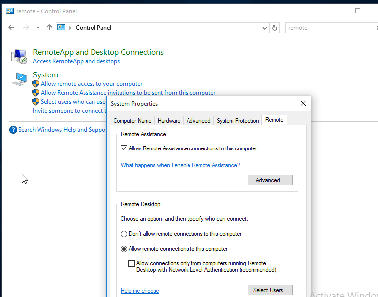 Windows 10 RDP Issue: Unable to connect using RDP Protocol to access