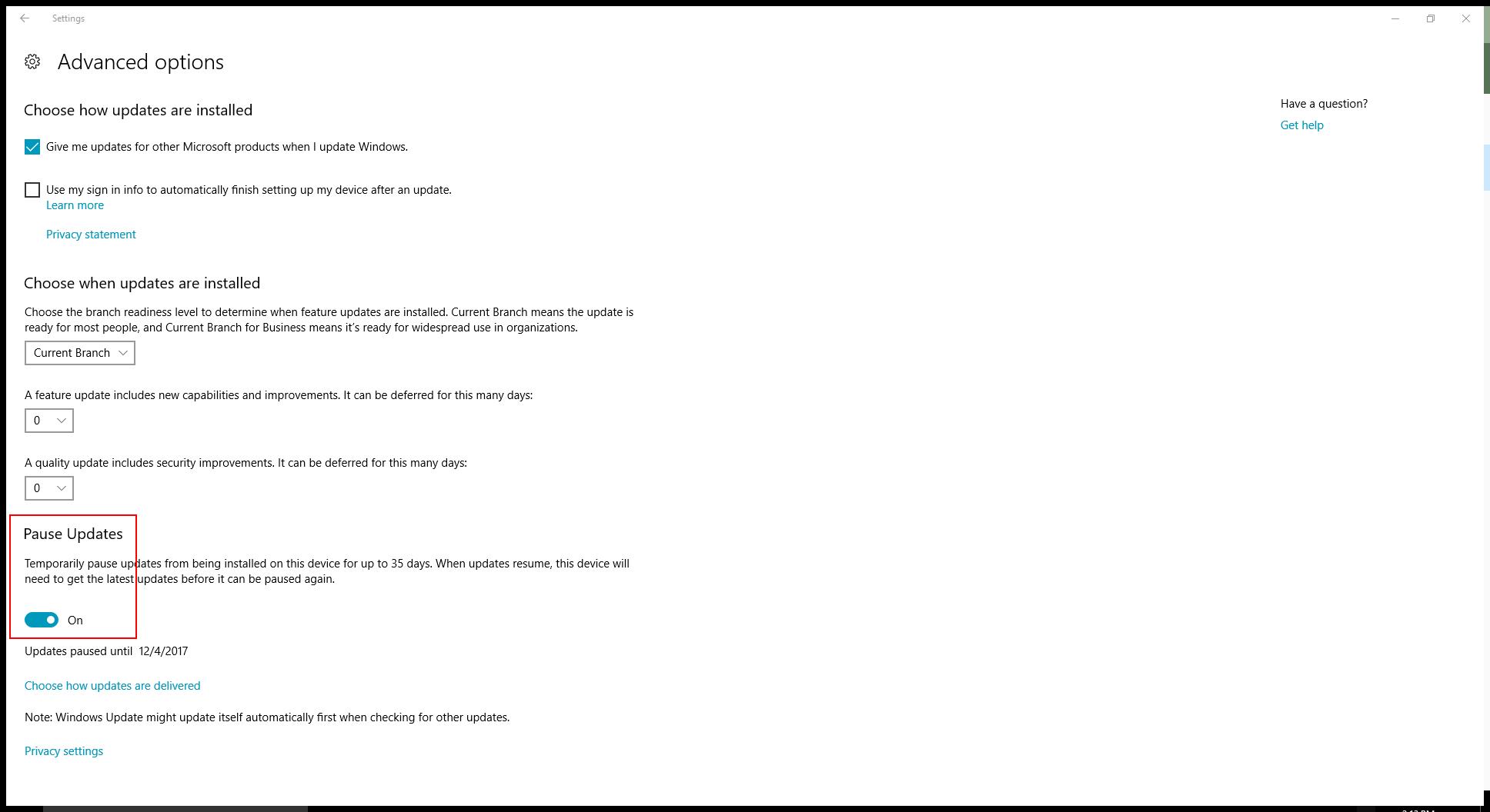 windows 10 update offline 1709