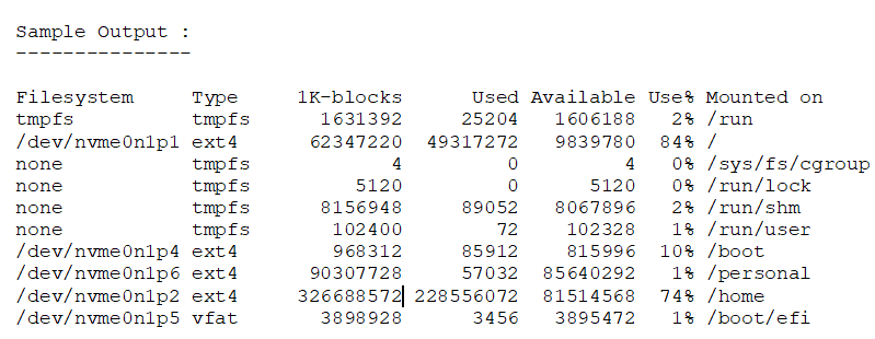 How is the disk utilization calculated for a Linux server