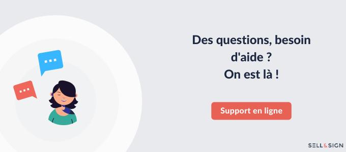 Bannière support en ligne