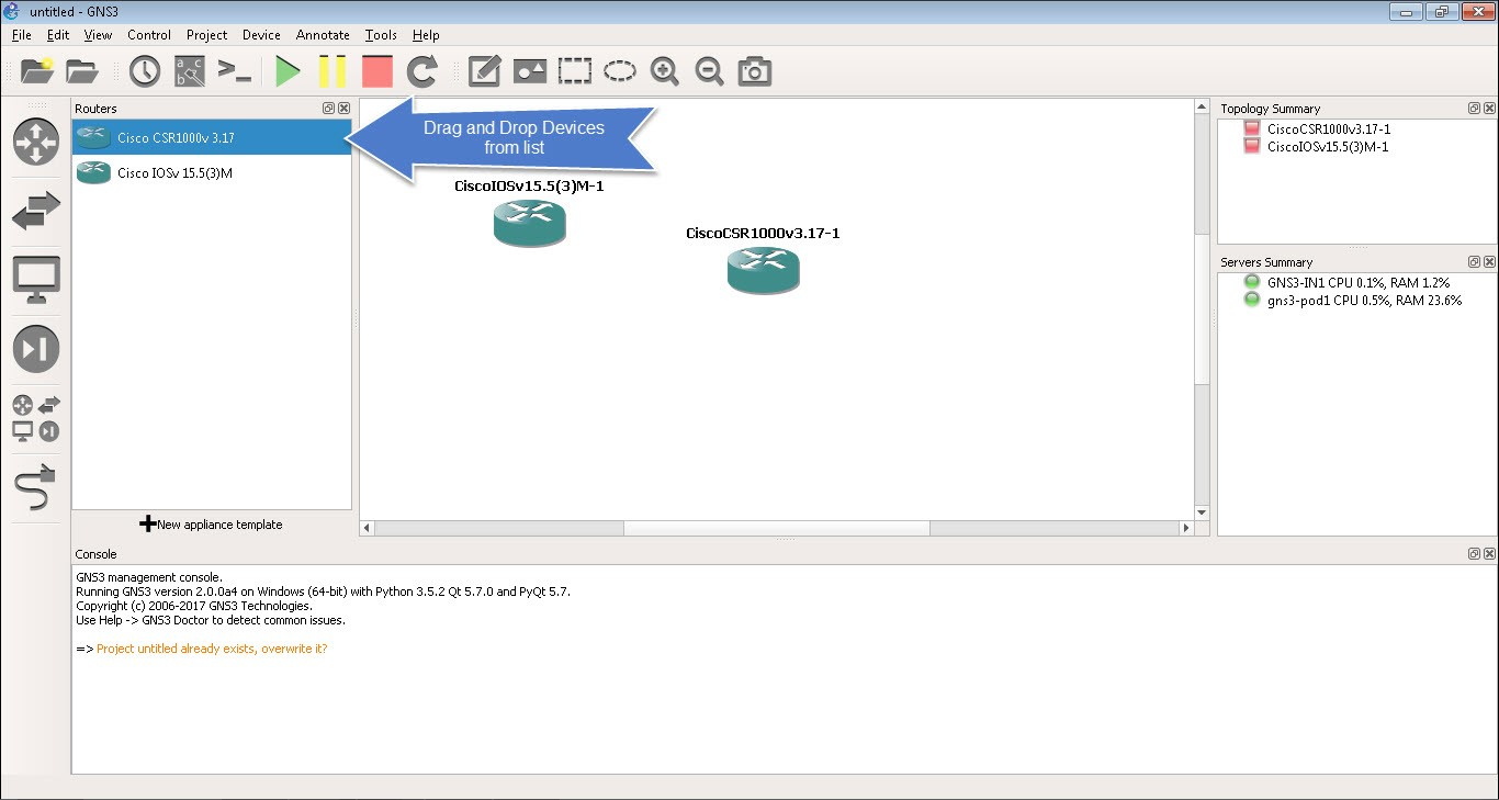 GNS3 Access Guide