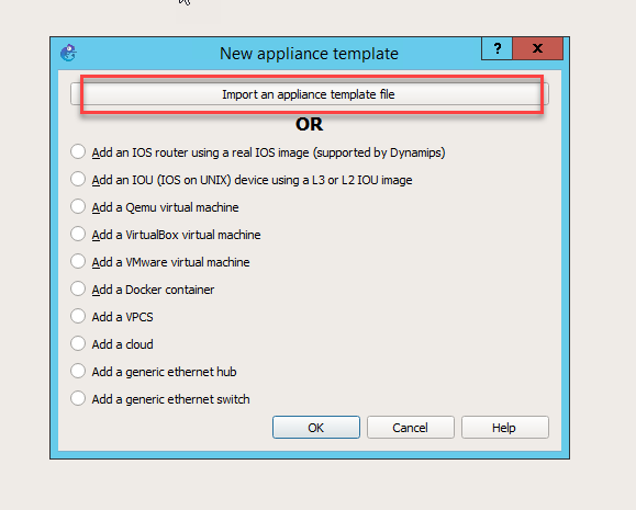 How to add Appliance and Image on GNS3