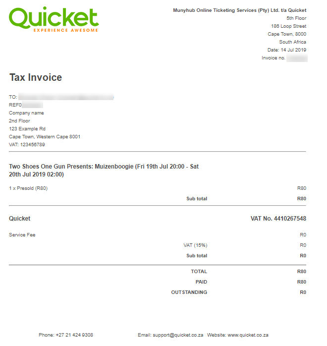 How To View And Update Your Invoice For A Ticket Purchase
